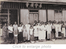 Tan Cheng Hoe's wedding at the Christian church on Pulau Jerejak in 1953.